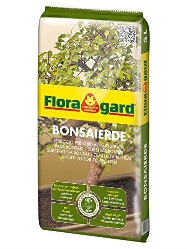Floragard Bonsaierde 5 L • Spezialerde für anspruchsvolle Bonsais • mit Tongranulat, Vital-Ton und dem Naturdünger Guano