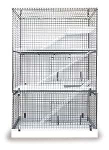 Ferrt cage in Grey three tier all metal