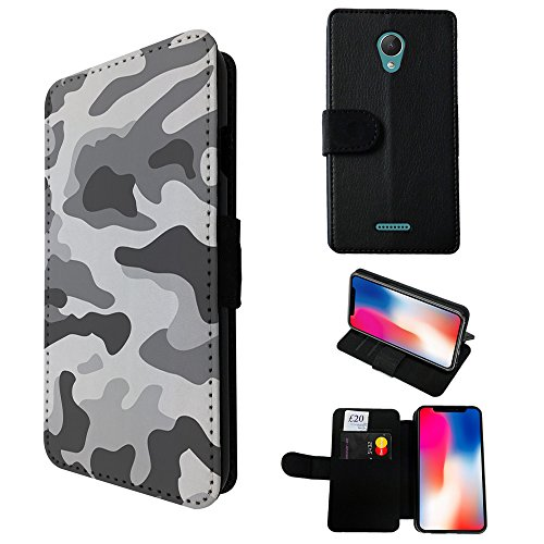 003597 - Grey Camo Army Camouflage Design WIKO Tommy 2 PLUS (2017) 5.5
