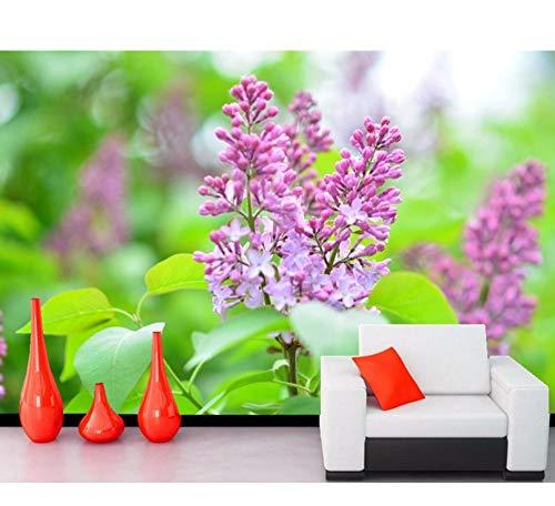 Kuamai alberi in fiore lilla fiori sfondi carta da parati, soggiorno tv divano parete camera da letto 3d murales carta da parati-120x100cm