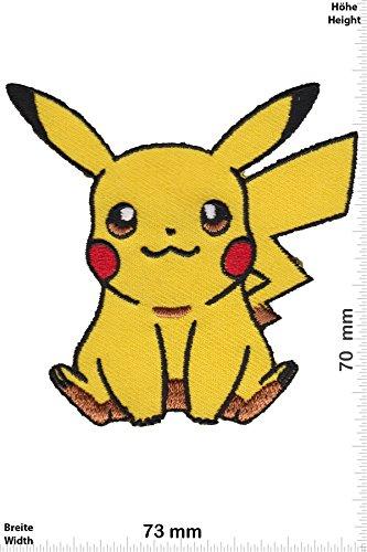 Cartoon-patch (Patch - Pikachu - Pokémon - Movie Game Patch - Cartoon - Comic - Patches - Aufnäher Embleme Bügelbild Aufbügler - Costume)