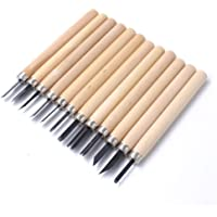 ANYM® Wood Carving Set Chisels Knife Woodcut Working Hand Tool for 12pcs Professionals