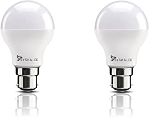 Syska B22 9-Watt LED Bulb (Pack of 2, Cool Day Light)