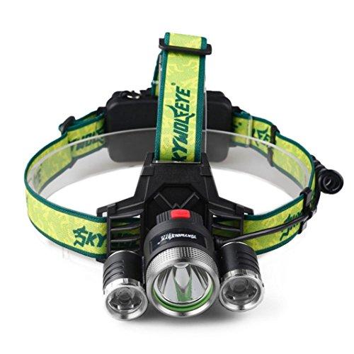 LED Stirnlampe Kopflampe Clode® 10000 Lumen 3X XML T6+2R5 Super hellen LED-Scheinwerfer für laufen, Camping, Wandern, Angeln, Jagd