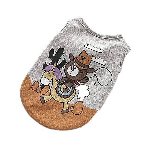 PZSSXDZW Haustierhundekostüm Hundehoodie 2019 Tiergrafiken Fashion Oberbekleidung Heimtierbedarf,Grey,XL (Spider Girl Kostüm Geist, Halloween)