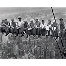 Photography Mini Poster featuring Charles C Ebbets' 'Lunch Atop A Girder' 50x40cm