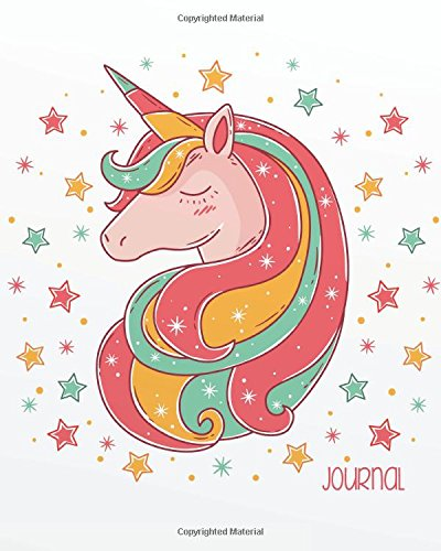 Journal: Unicorn Sketchbook for Girls: 124 Pages of 8