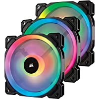 Corsair Lüfter LL120 RGB LED PWM 3 Fun Pack Dual-Licht-Loop RGB LED PWM Lüfter - 3 Lüfter Pack mit Lighting Node PRO
