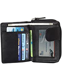 Designer Black Wallets For Women Super Large Capacity Purses Of Genuine Leather