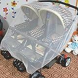 Insektennetz für Zwillingskinderwagen Buggy Mückennetz Moskitonetz...