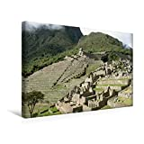 Premium Textil-Leinwand 45 cm x 30 cm quer, Ein Motiv aus dem Kalender Machu Picchu - Die Stadt in den Wolken | Wandbild, Bild auf Keilrahmen. Leinwand, Leinwanddruck (CALVENDO Orte)