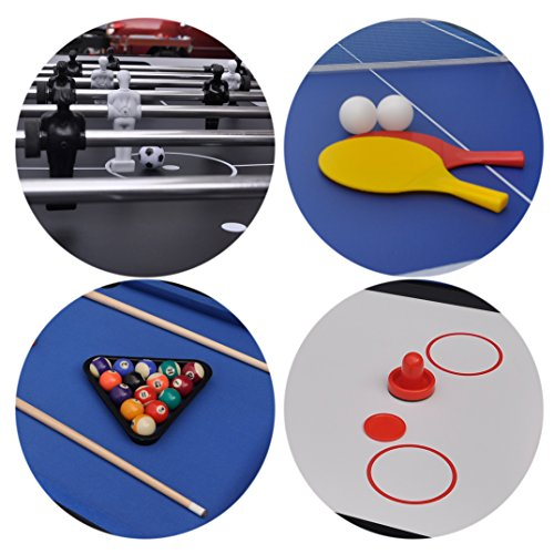 HLC 4 In 1 Multi Sports Game Table Combo Table  Pool Table/ Air Hockey ...