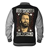 Bud Spencer Herren LEGEND College Jacket (schwarz) (XL)