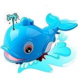 Jouets pour enfants,Xinan New Born Babies Swim Dolphin Chain Wound-Up Petit Toy Bath animal