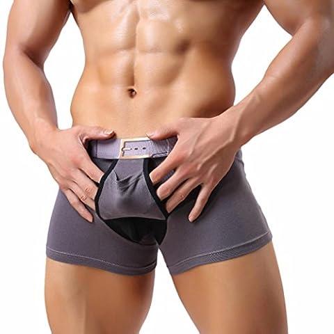 Internet Hommes sexy respirent sous-vêtements slips Séparation des caleçons boxeur