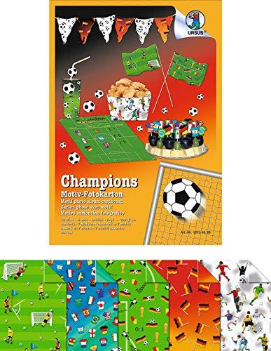 Fotokarton Motiv Fußball, Motivkarton, Bastelkarton, Papier