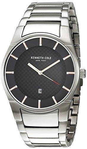 Kenneth Cole New York uomo 'Slim' quarzo in acciaio INOX orologio da donna, colore: tonalità argentata (Model: KC15103001)