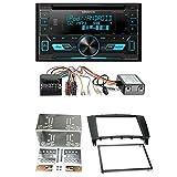 Einbauset: Kenwood DPX3000U Doppel-DIN Radio + 2-DIN Radioblende schwarz + CAN-Bus Adapter Antennenadapter für Mercedes C-Klasse W203 Facelift C-Klasse (CL203 Facelift) 04/04-04/08