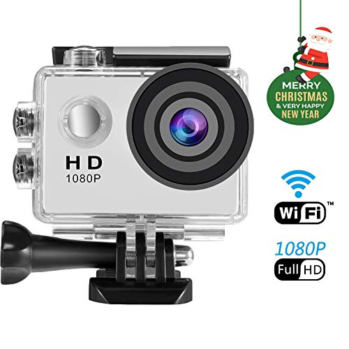 Action Cam WIFI 1080P, SENDOW Action Kamera WIFI Ultra HD Actionkamera Wasserdicht Zeitraffer Motorrad Helmkameras Sport Kamera mit Fernbedienung 170 Grad Weitwinkel Handgelenk-fernbedienung
