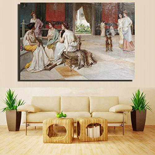 Cyalla Wandbild, Motiv: Europäischer Gericht, Wanddekoration, 70 x 100 cm
