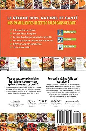 Book's Cover of99 Recettes Paléo: 100% naturelles et santé
