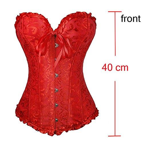 U-Pretty Damen Korsett Mieder Korsage Burleske exclusive Dessous Rot lace up