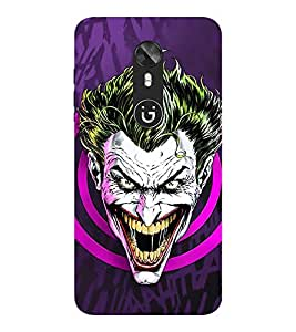 GIONEE A1 2017 JOKER ACTION PRINTED BACK CASE COVER by SHAIVYA