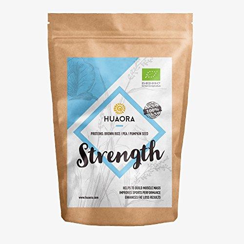 Proteine Organiche Vegane-Organic Vegan Protein - Huaora Strength – Proteine Vegetali Biologiche in Polvere - Senza Glutine 250gr.