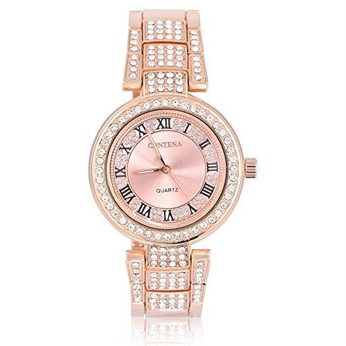 Uhren für Frauen, Armband Armbanduhr Luxus Strass Elektrische Damen Kleid Armbanduhr (Mk Armbändern Für Frauen Verkauf)