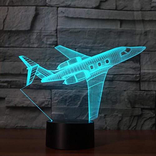 CYJQT 3D Nachtlicht Für Kinder Touch Fernbedienung Flugzeug Licht Led Tischlampe Optische Magische Glühbirne 7 Farben Ändern Stimmung Lichter Usb Lichter