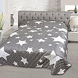 Kamaca Tagesdecke Sofaüberwurf Bettüberwurf Stars All Over unterfütterte und Gesteppte hochwertige Qualität Schadstoffgeprüft nach Öko-Tex 100 (220 x 240 cm)