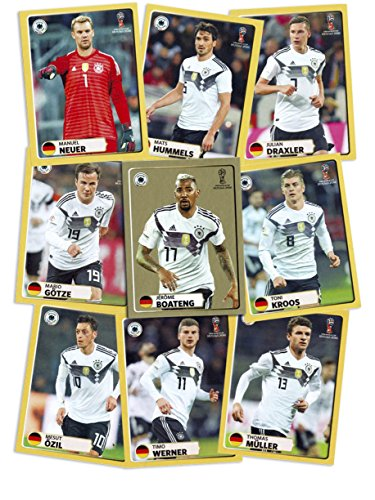 Album Sticker WM 2018 Komplett-Set M1 - M9 FIFA World Cup Russia Fussball Weltmeisterschaft Russland ()