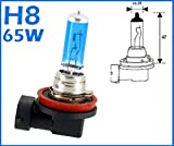 2x H8 65 Watt GAS Xenon Optik Halogen Lampen XENON WEISS Long Life Birnen Autolampen Super White