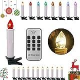 SPEED Kabellose LED Kerzen Weihnachtskerzen,Neues Modell 40er Set,RGB Buntlicht Christbaumkerzen Weihnachtskerzen Christbaumschmuck,inkl Fernbedienung,Timer-Programm