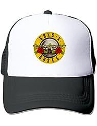 huseki Guns N 'Roses Bullet Distressed Rock Sports Malla tiene Black