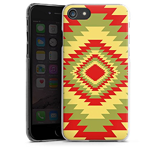 Apple iPhone X Silikon Hülle Case Schutzhülle Ethnostyle Indianer Muster Batik Style Hard Case transparent
