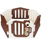 Parc bébé de 6 cotés XXL avec une porte de sécurité de LCP Kids certifié EN 71