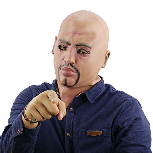 Blaward Neuheit Latex Horror Masken, Halloween Kostüm für Party, Maske Gesicht für Erwachsene, Schreckliche Alien Headwear für Halloween - Alien Maske Kostüm