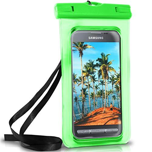 ONEFLOW Wasserdichte Hülle für Samsung Galaxy | Full Cover in Grün 360° Unterwasser-Gehäuse Touch Schutzhülle Water-Proof Handy-Hülle für Galaxy Xcover 4 3 2 Alpha Y3 UVM Case Handy-Schutz