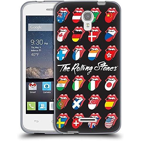 Ufficiale The Rolling Stones Poster Bandiera Lingua Collezione Cover Morbida In Gel Per Alcatel OneTouch Pop Astro - Astro Collezione