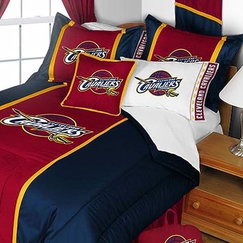 NBA Cleveland Cavaliers Colcha y funda de almohada Set Baloncesto Logo del equipo ropa de cama