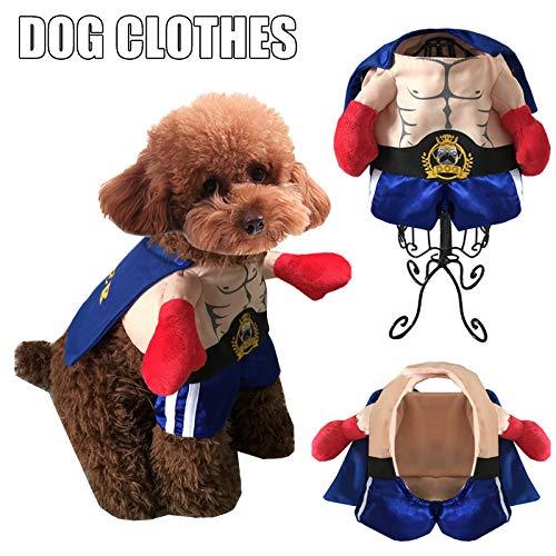 JklausTap Costumi per Cani e Gatti Costumi da Boxer Cosplay Abiti da Compagnia per Animali Divertenti Vestiti Uniformi di Natale di Halloween per Cani Cuccioli Gatti