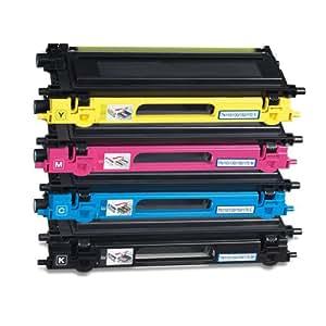 Lot de 4 cartouche(s) toner d'encre génériques (non originale), neuve(s), compatible(s) avec les imprimantes laser suivantes : 4 Compatible Toners for Brother TN130K/C/M/Y HL-4040CN/4050CDN (all over the world); Brother HL-4050CDNLT/4070CDW; DCP-9040CN/9045CDN; MFC-9440CN/9450CND/9840CDW . . Remplace(nt) la(les) cartouche(s) originale(s) : Brother TN130K/C/M/Y