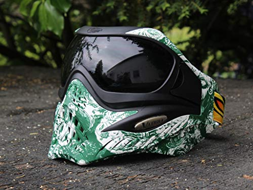 VForce Grill Paintball Maske Zombie Green Dunkles Thermal Glas -