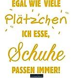 CLICKANDPRINT  Aufkleber » Schuhe passen Immer!, 120x104,3cm, Signalgelb • Wandtattoo/Wandaufkleber/Wandsticker/Wanddeko/Vinyl