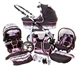 Chilly Kids Dino 3 in 1 Kinderwagen Set 41 Schwarz