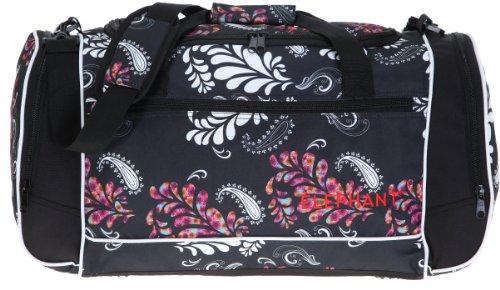 ® XL Sporttasche 60 cm Sport Tasche Reisetasche / Blumen FLORAL BLACK Schwarz