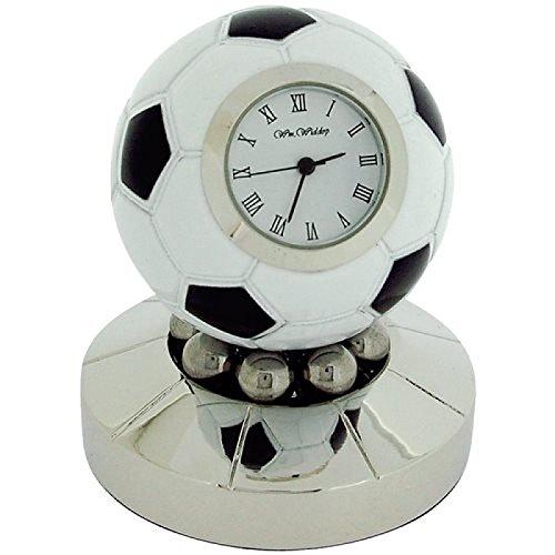 Miniature Free Standing Pallone da calcio girevole-collezionisti orologio desktop 9878