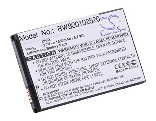 vhbw Li-Ion Akku 1550mAh (3.7V) für Handy, Smartphone, Telefon Motorola Atrix 4G MB860, Droid Bionic XT875, X MB810, X2 MB870, MB860 wie BH6X, SNN5880 (Akku Mb860)