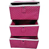 Krevia New Impressive Storage Cabinet Organizer Box with 3 Removable Layers Drawers Compartments